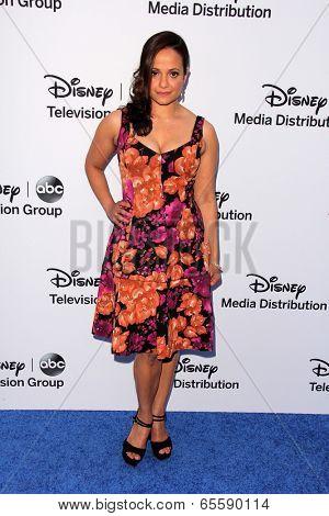 LOS ANGELES - MAY 19:  Judy Reyes at the Disney Media Networks International Upfronts at Walt Disney Studios on May 19, 2013 in Burbank, CA