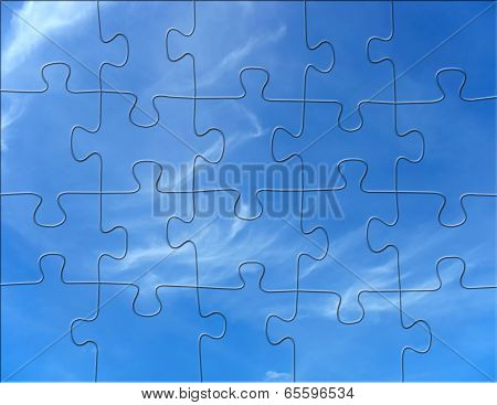 Cloudy Blue Sky Jigsaw Puzzle Background