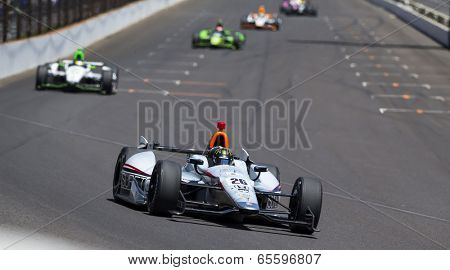 Indianapolis, IN - May 25, 2014:  NASCAR driver, Kurt Busch (26), runs the 98th annual Indianapolis 500 at the Indianapolis Motor Speedway in Indianapolis, IN.