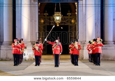 Modena, Italy - July 9 : British Military Band During International Concert Of Military Bands On Jul