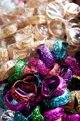 image of bangles  - Lot of colorful cheap bangles at Indian market place - JPG