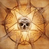 stock photo of pentagram  - Occult s - JPG
