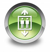 pic of elevator icon  - Icon Button Pictogram Illustration Image with Elevator symbol - JPG