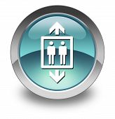 foto of elevator icon  - Icon Button Pictogram Illustration Image with Elevator symbol - JPG