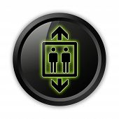 pic of elevator icon  - Icon Button Pictogram Image Illustration with Elevator symbol - JPG