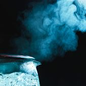 picture of boiling water  - tea kettle with boiling water - JPG