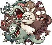 stock photo of monsters  - Cartoon monsters - JPG
