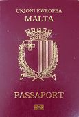stock photo of passport cover  - Front cover of a maroon - JPG