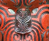 foto of maori  - Beautiful maori carving - JPG