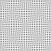 stock photo of parallelogram  - Design seamless monochrome warped diamond pattern - JPG