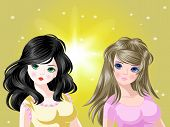 foto of makeover  - 2 Cutie girl cartoon hair style makeover - JPG