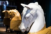 pic of carousel horse  - Carousel horses being crafted at a carnival or fairground - JPG