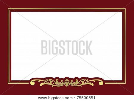 golden frame with red background