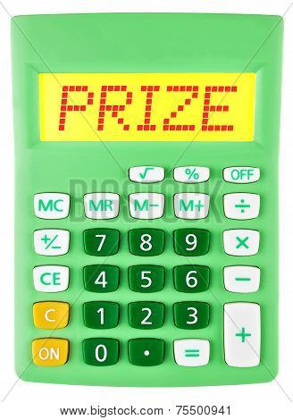 Calculator With Prize On Display