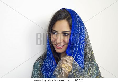 Arabian woman wearing abaya isolated, Arabian woman wearing Hijab , Muslim woman with headscarf in f