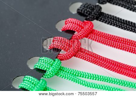 Knots On The Colorful Cords