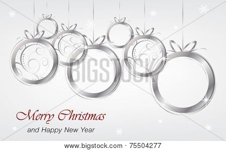 Christmas and New Year background wallpaper for greeting card