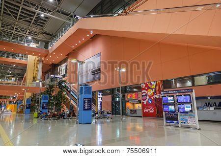 Osaka, Japan - October 19 2014: Kansai International Airport Opened In 1994, It's Now An Asian Hub T