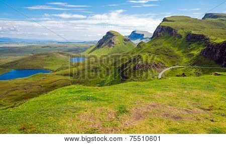 Green landscape on the Isle of Skye