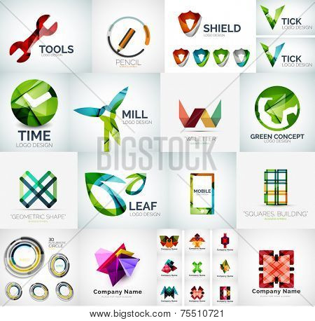 Abstract company logo collection - large set of business corporate logotypes