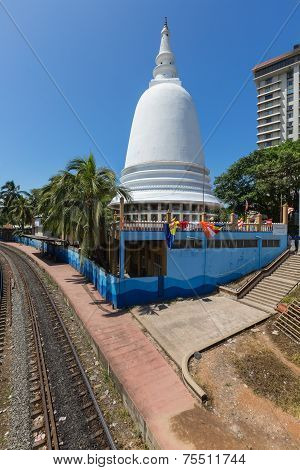 Stupa In The Center Of Colombo. Sri Lanka