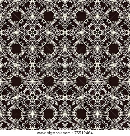 Two Colors Lace Seamless Pattern