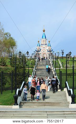 Way to the church in Khabarovsk