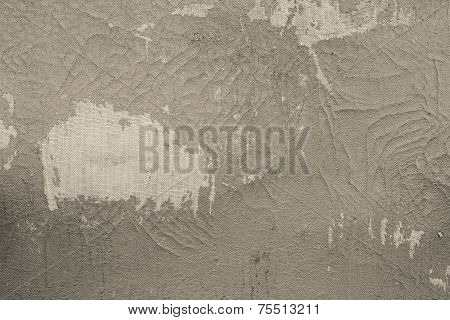 Old Fabric Leather Of Beige Color With Attritions
