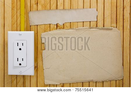 Installed Electrical Outlet On The Wall