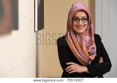 Portrait Of Young Muslim Businesswoman