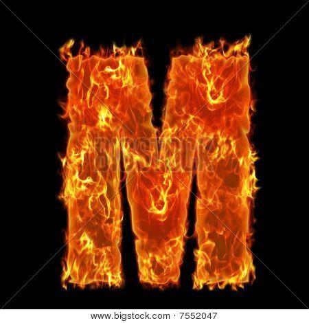 Burning Alphabet M