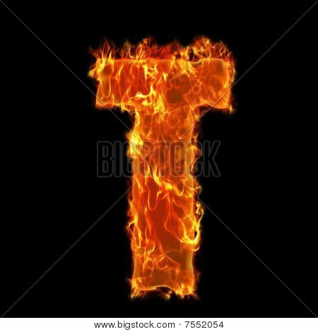 Burning Alphabet T