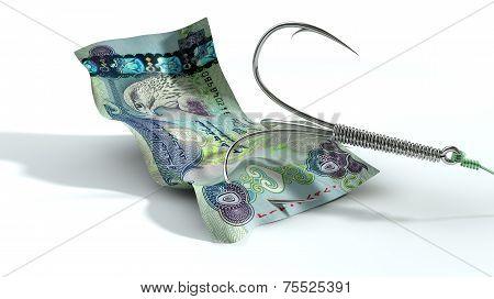 Dirham Banknote Baited Hook