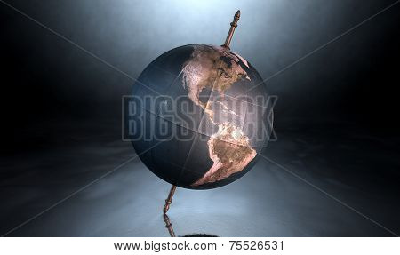 Tilted World Globe