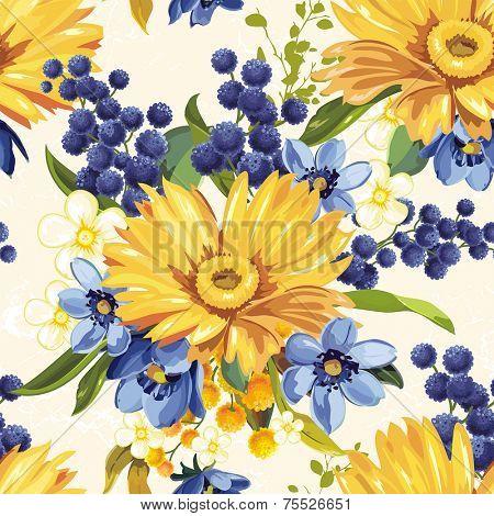 Vintage Beautiful background with gerbera flower