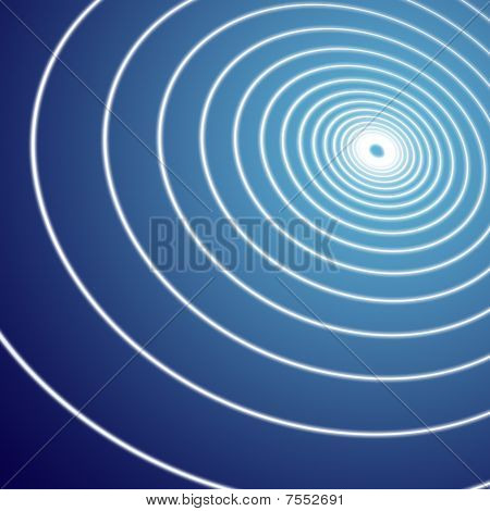 Blue Background Spiral