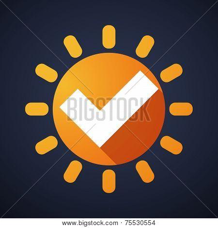 Sun Icon With A Survey Sign