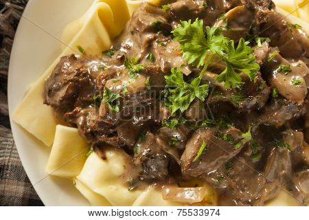 Homemade Hearty Beef Stroganoff