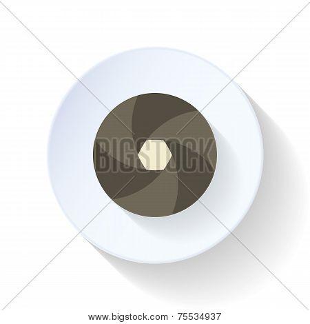 Diaphragm Flat Icon