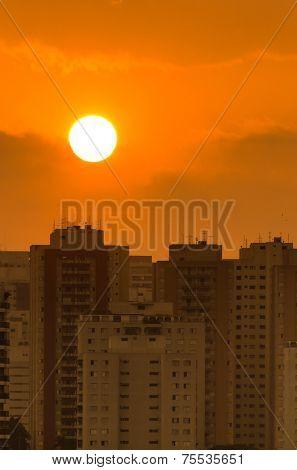 Sunset over Sao Paulo, Brazil - Latin America