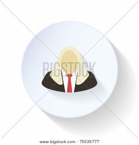 Judge Flat Icon