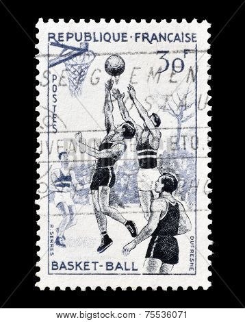 Basketball stamp 1956