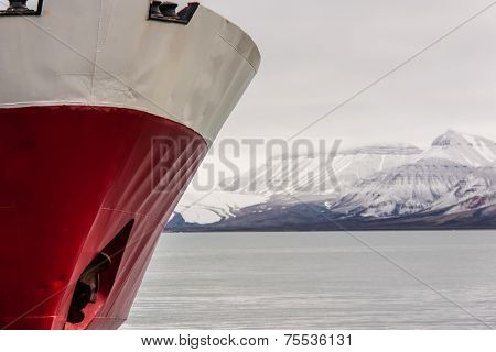 Ship in Svalbard, Norway Europe