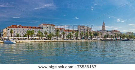 Split Riva View With Diocletian Palace
