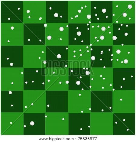 Empty Green and Dark Green Tiles Background
