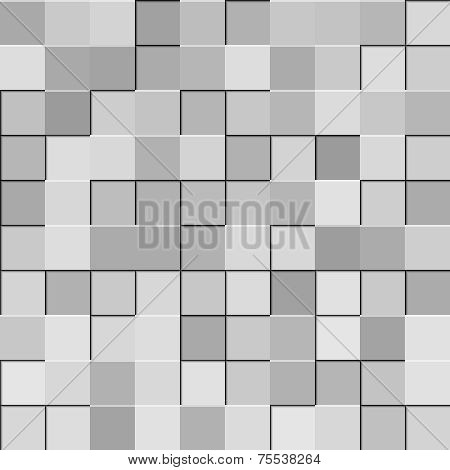 grey and silver squares