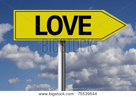 Creative sign with the message - Love