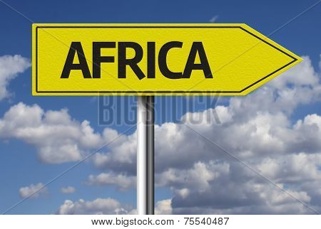 Creative sign with the text - Africa