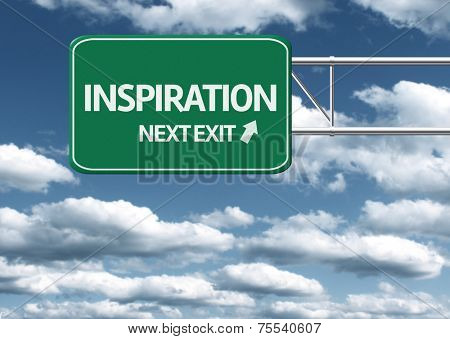 Creative sign with the text - Inspiration, Next Exit