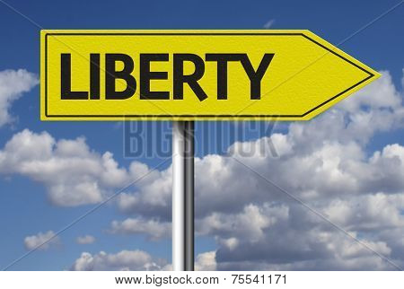 Creative sign with the text - Liberty
